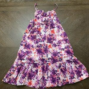 Old navy purple and salmon floral sun dress L